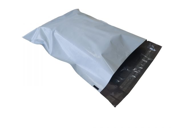 Grey Poly Mailer flat pack