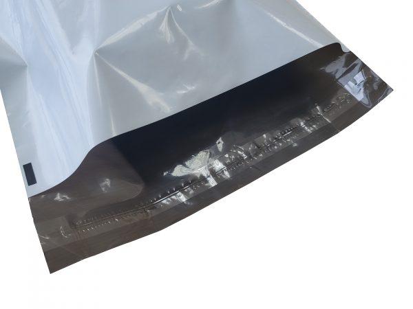 Grey poly mailer single adhesive strip