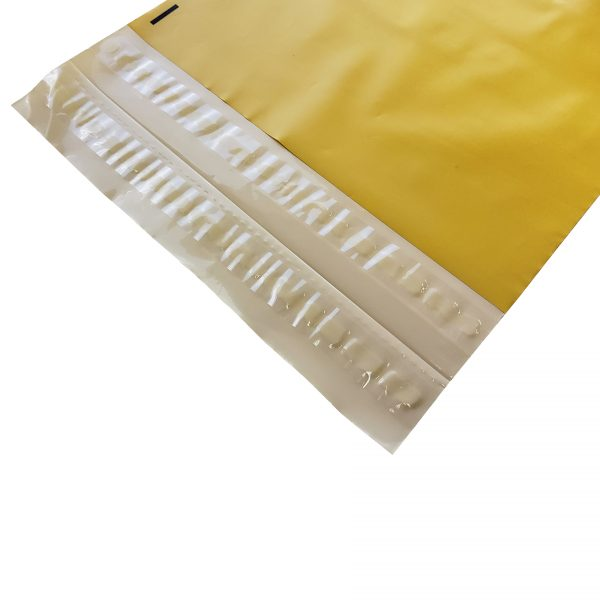 Yellow Poly Mailer Double Adhesive