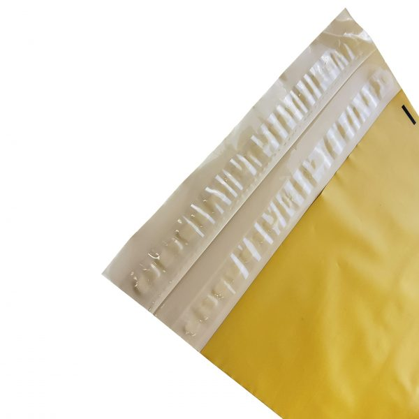 Yellow Poly Mailer with double adhesive strip