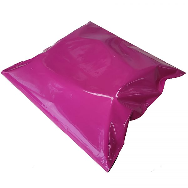 Warm Red Poly Mailer filled